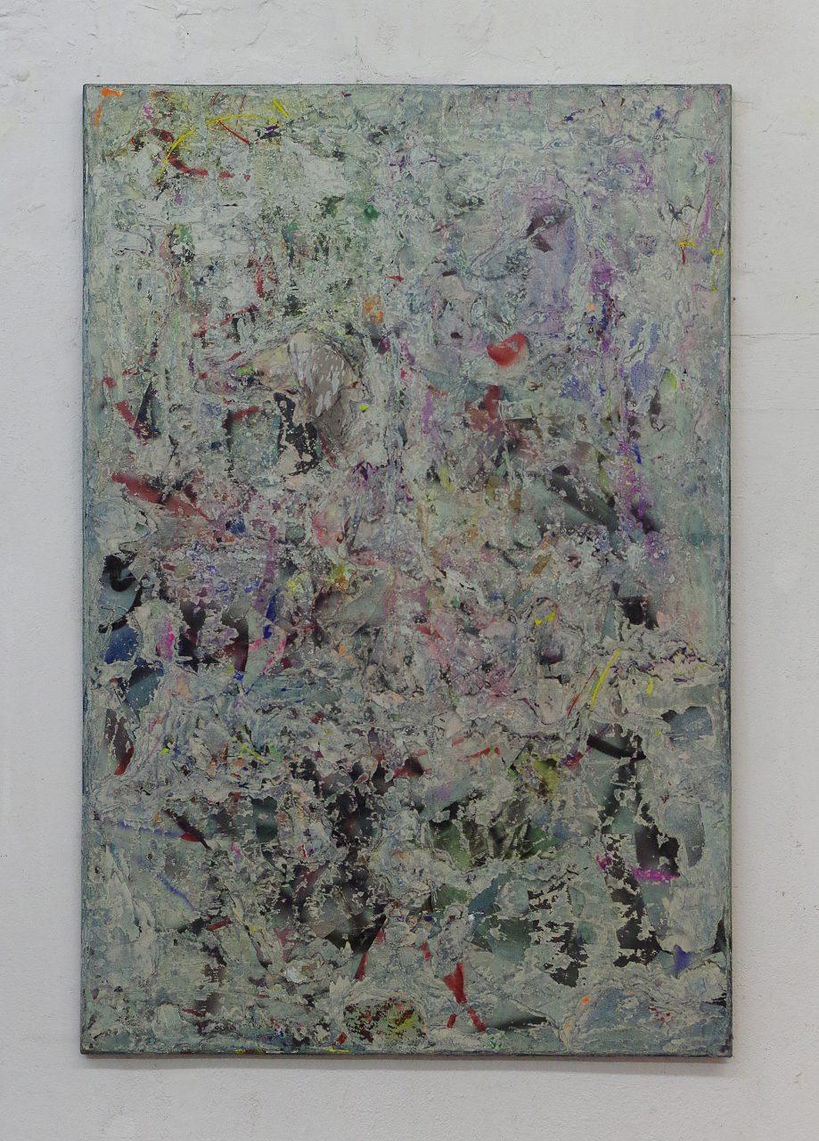 2016, Acryl, Spraypaint, Papier, Leinwand, Keilrahmen 150 x 100 cm