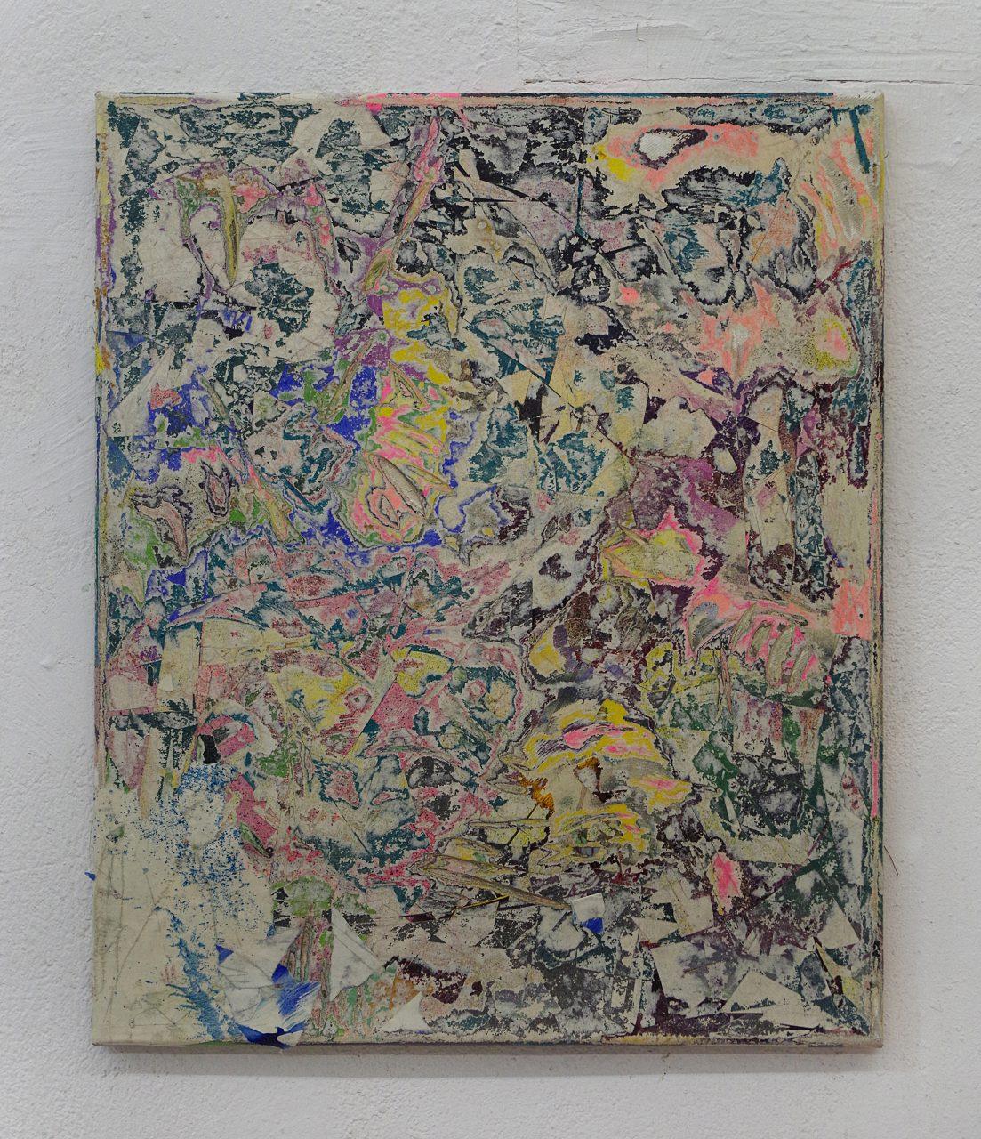 2016, Acryl, Spraypaint, Papier, Leinwand, Keilrahmen 60cm x 50cm