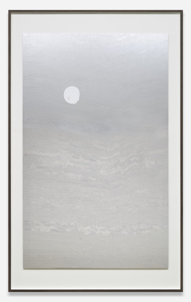 Luna9 Wave Shield, 2016 | marker on digital C-print | 215.2x133 cm | © Slater B. Bradley | Courtesy of Slater Bradley Studio, Berlin and Galeria Filomena Soares, Lisbon | Photo: Christian Liebermann