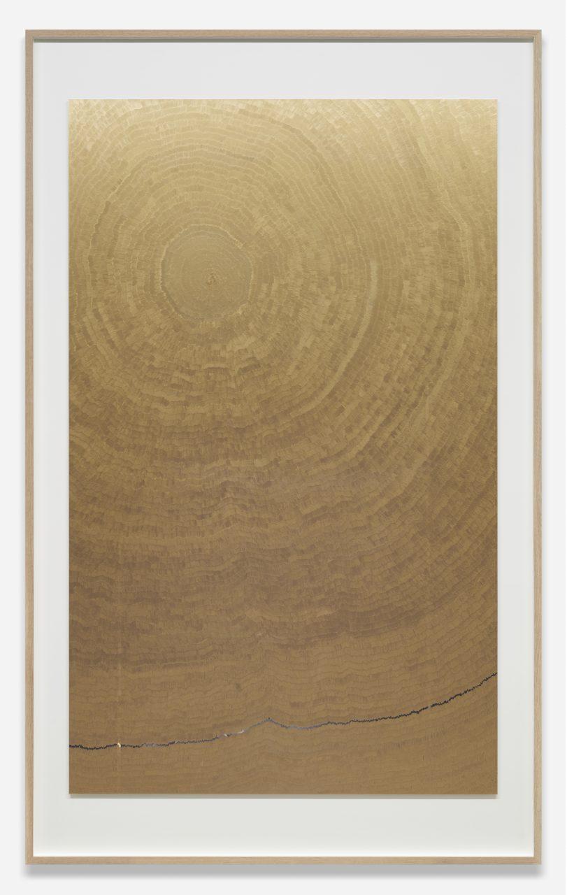 Ninth Wave Solar Shield, 2016   marker on digital C-print   215.2x133 cm   © Slater B. Bradley   Courtesy of Slater Bradley Studio, Berlin and Galeria Filomena Soares, Lisbon   Photo: Christian Liebermann