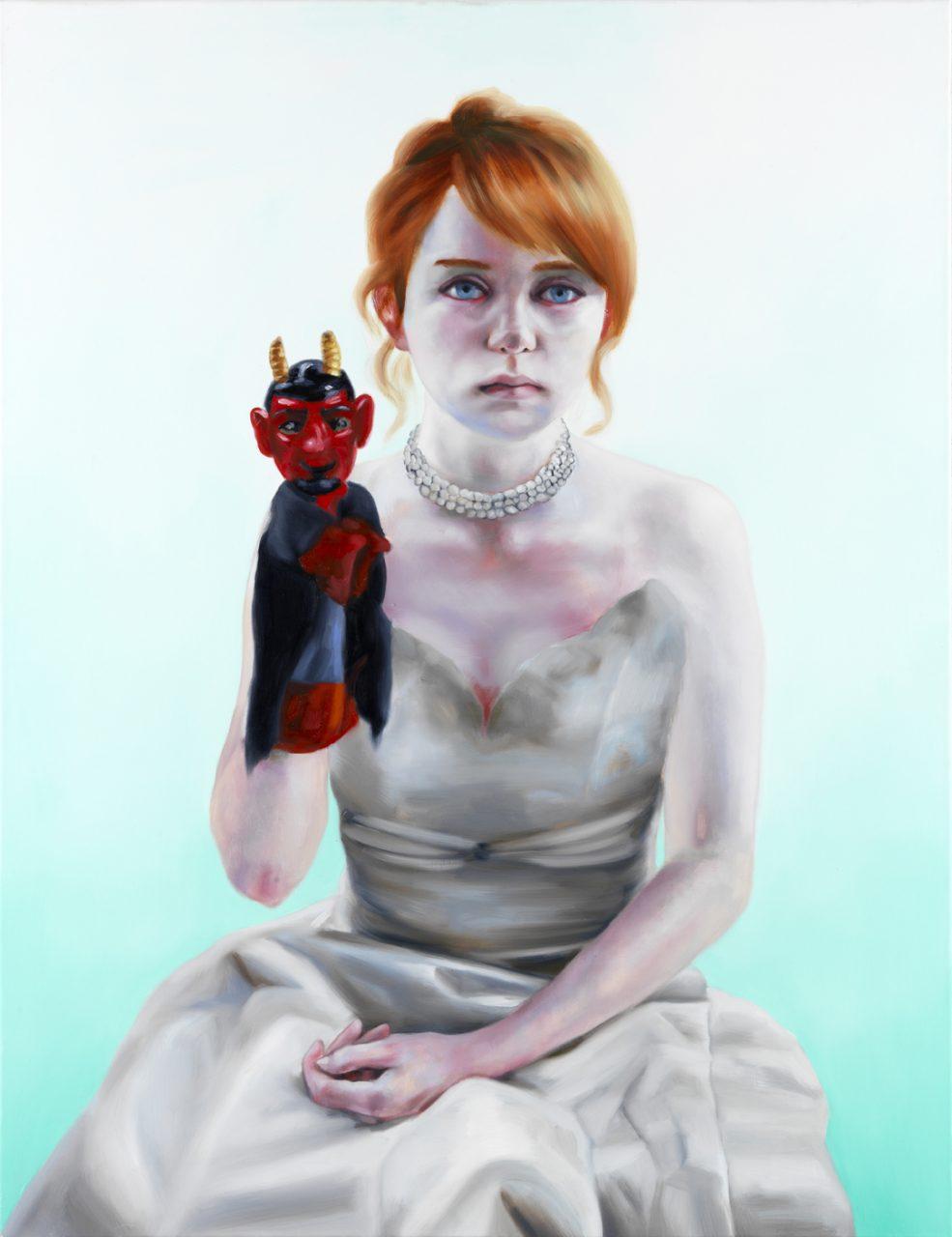 Die Braut, 2012 oil on canvas, 130 x 85 cm
