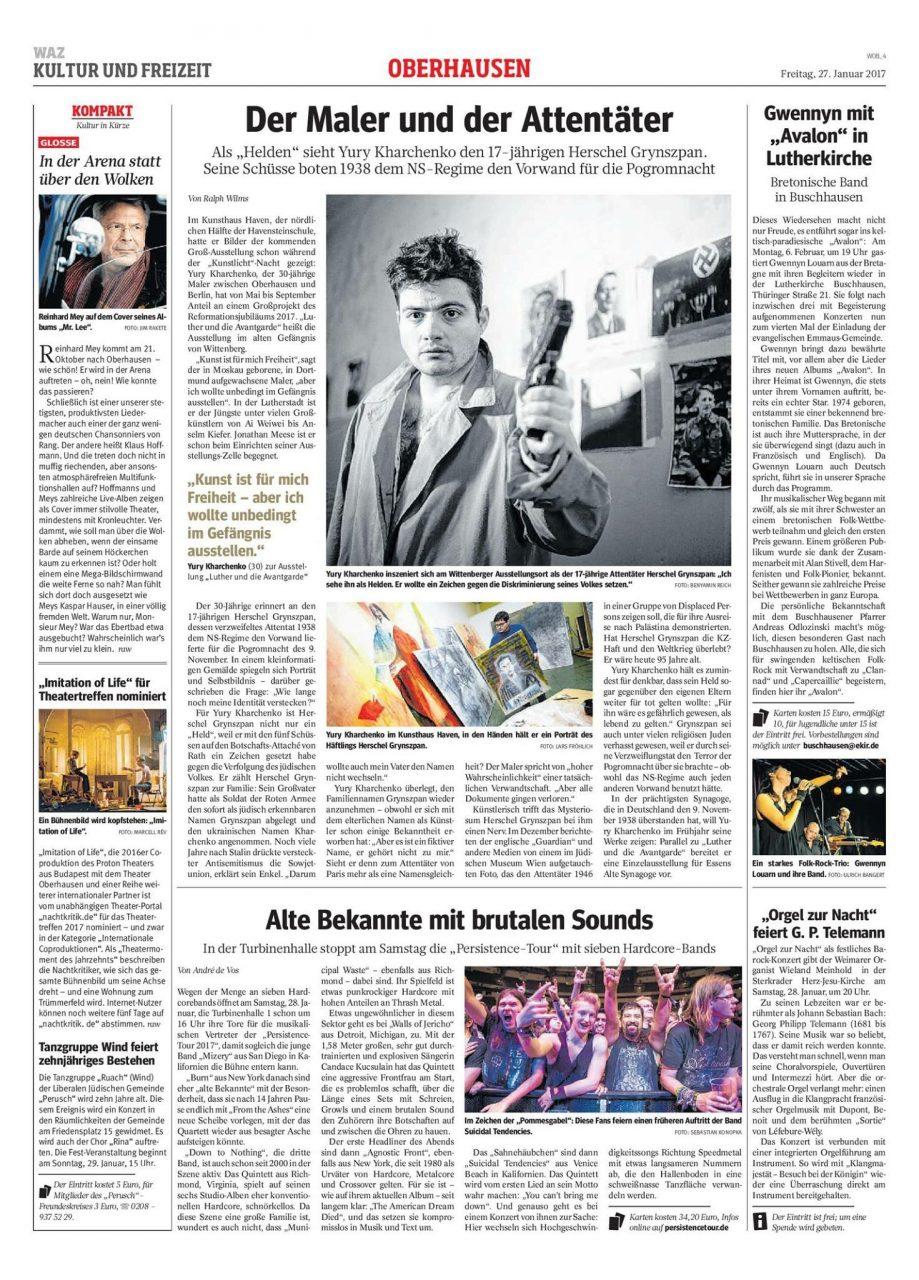 Westfalen Allgemeine Zeitung: The Painter and the Assassin