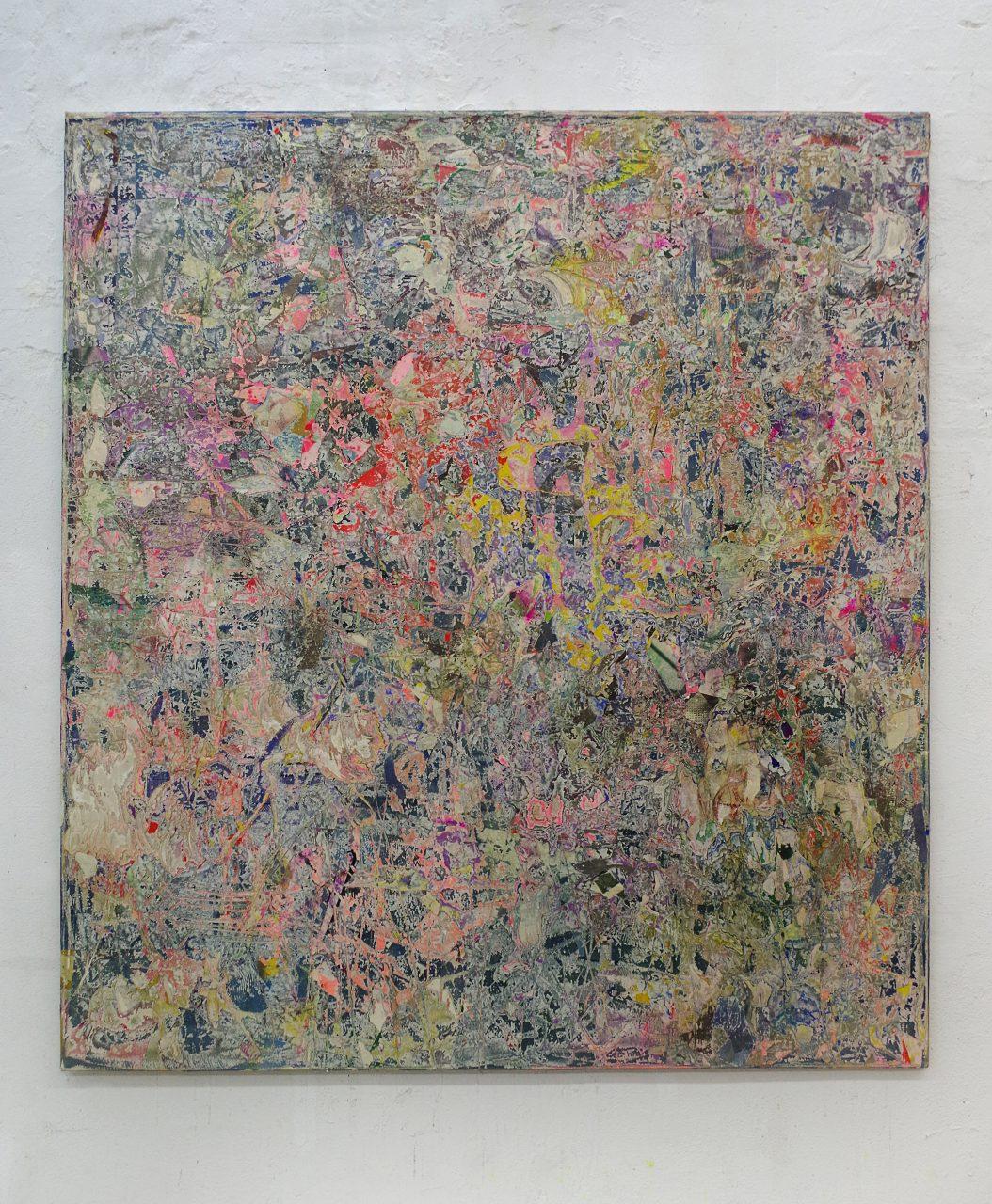 2017, Acryl, Spraypaint, Papier, Leinwand, Keilrahmen 200 x 180 cm
