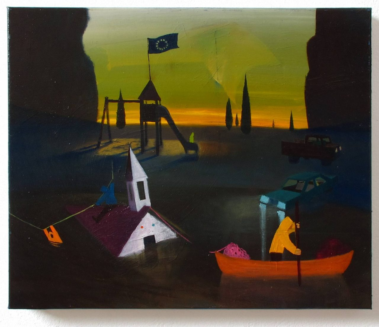 Abendstimmung, 50x60cm, oil on canvas, 2012, private collection, Saudi- Arabia