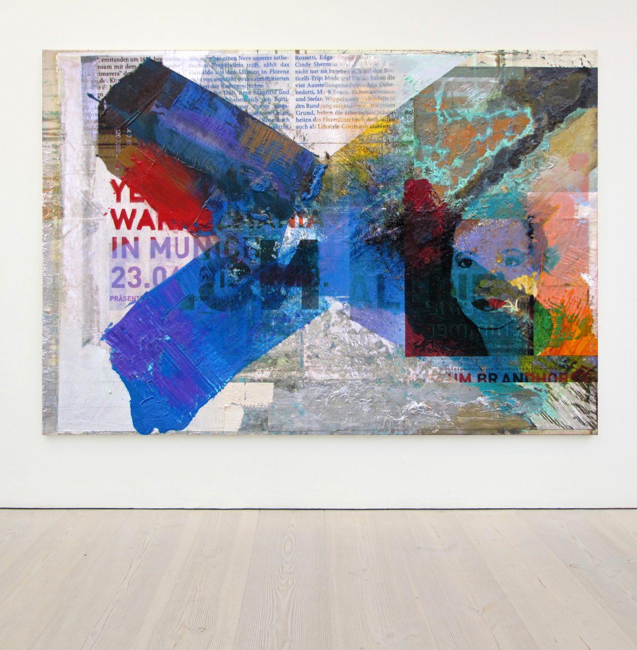 Advertisement Museum Brandhorst | 2016 | Acrylic Oil and Digital Prints on Canvas | 140 x 200 cm