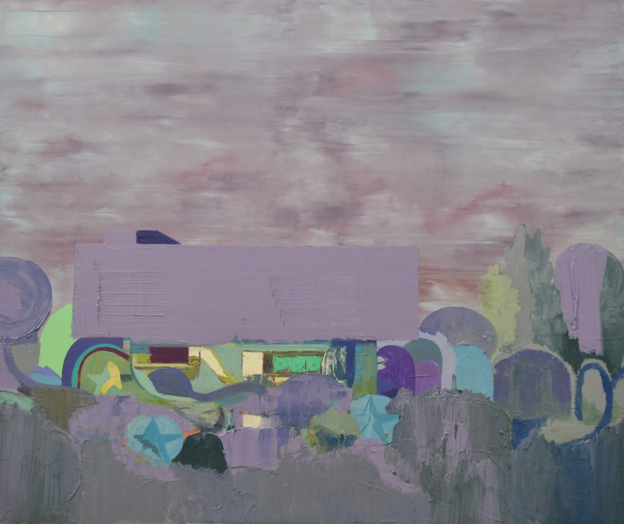 House with garden, 2015. Oil on linen, 100x120cm