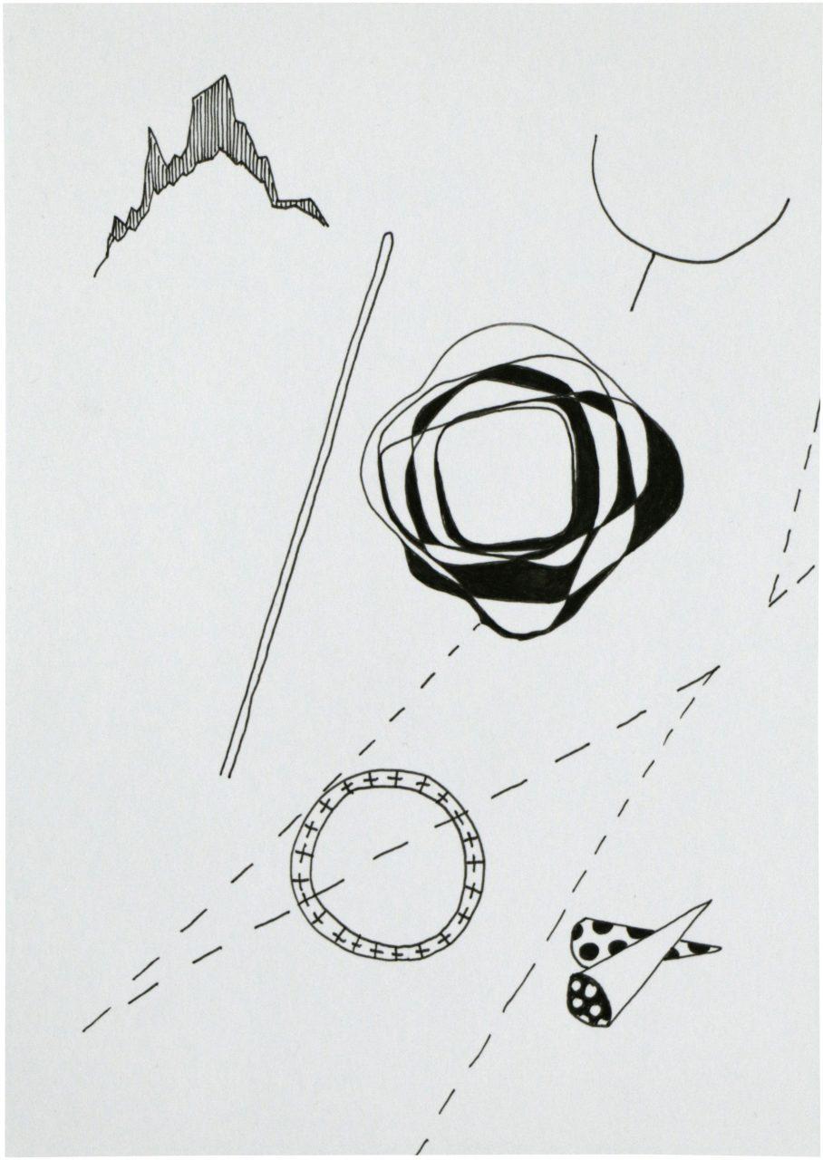 Kandinsky 1, 2017, pigment ink on paper, 14,8 x 10,5 cm