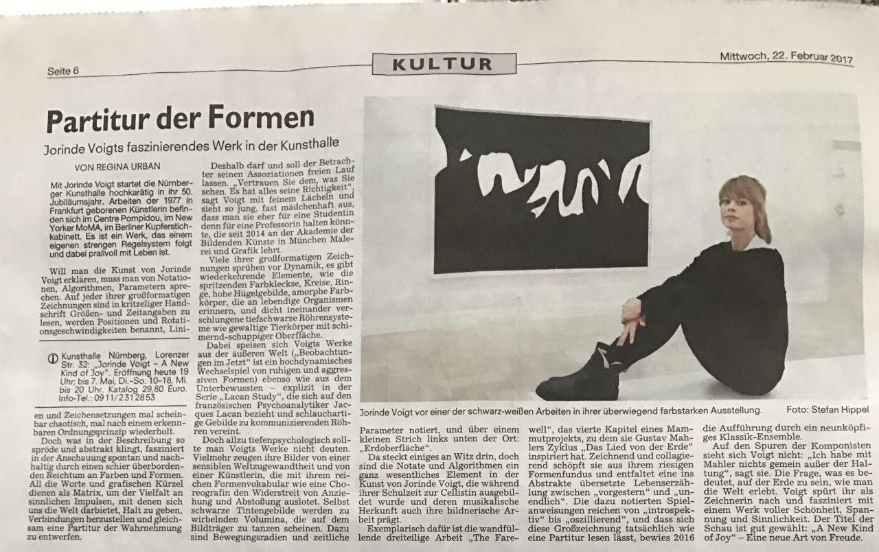 Tonight Jorinde Voigt opens her show in Kunsthalle Nürnberg