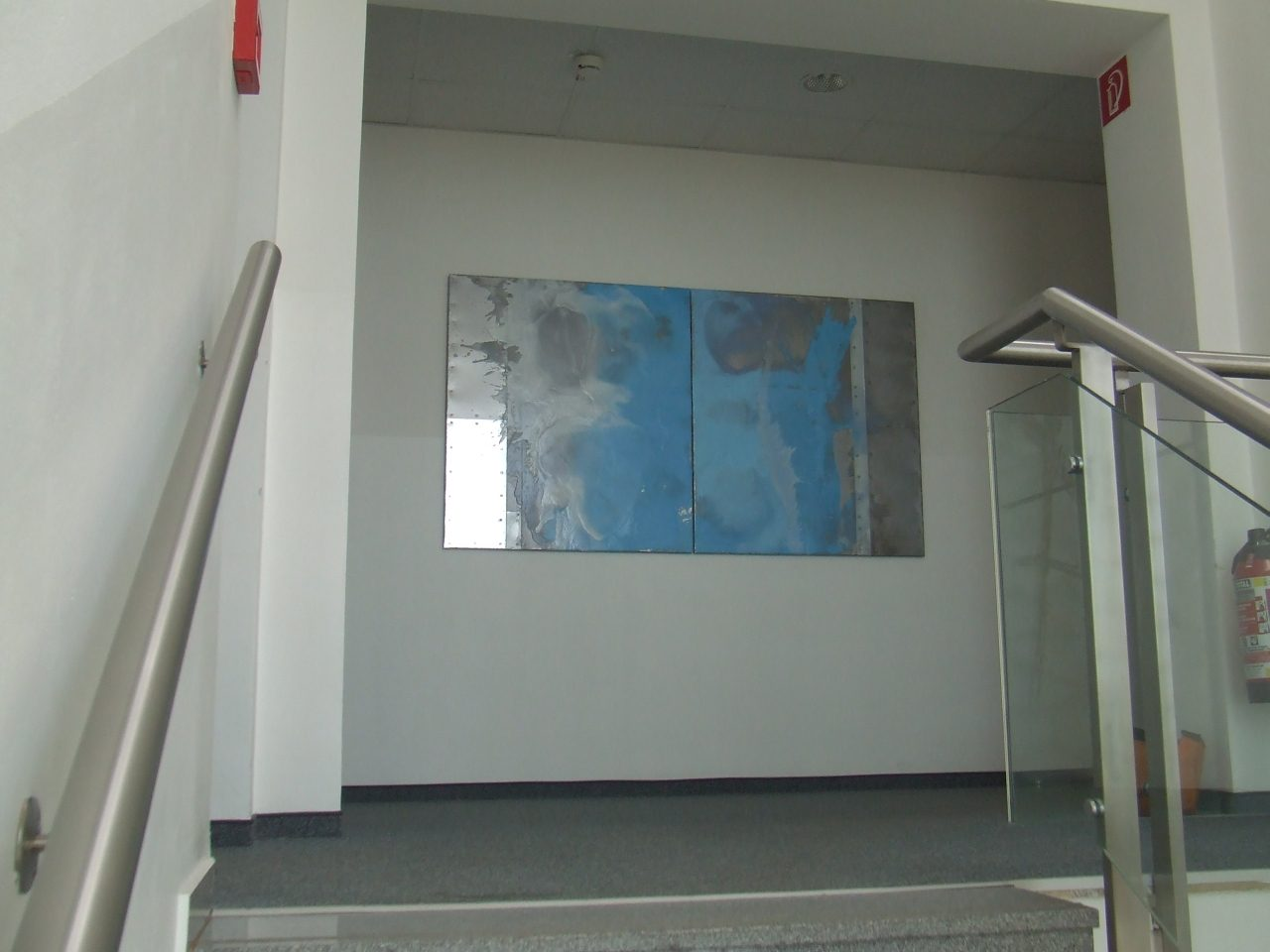 projekt stiegenhaus chefetage, oil on metal, 111x202cm