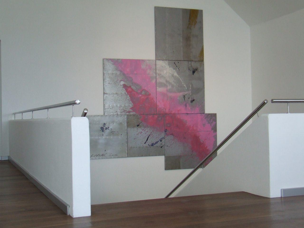 projekt landegger, mischtechnik, öl auf metall, 391x337cm, 2006, 02