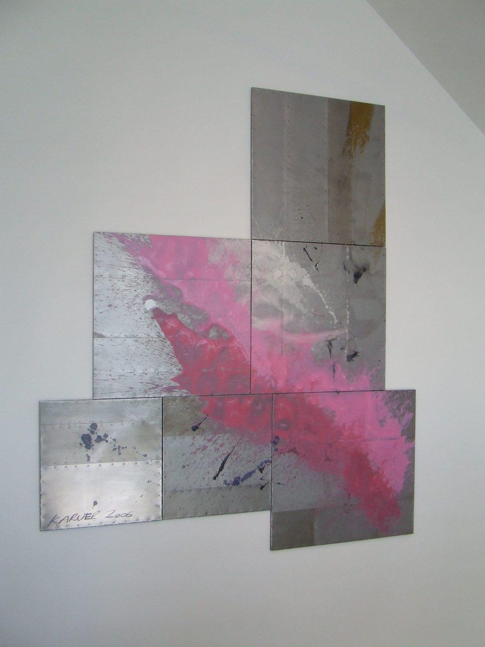 projekt landegger, mischtechnik, öl auf metall, 397x331cm, 2006, 01