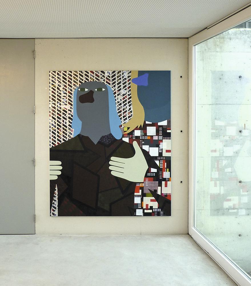 Tronie & City II, 180x150cm, 2013