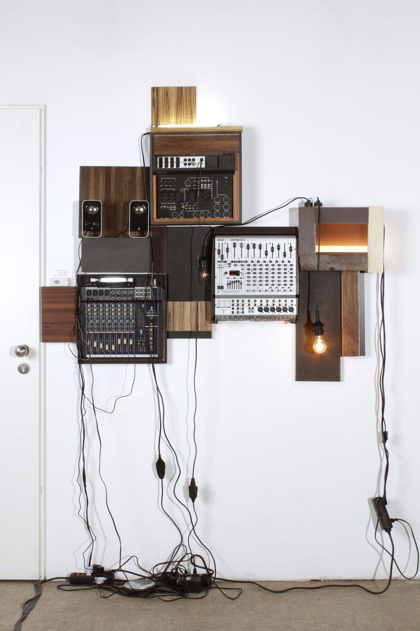 Art work 'BLACK LIGHT' in studio