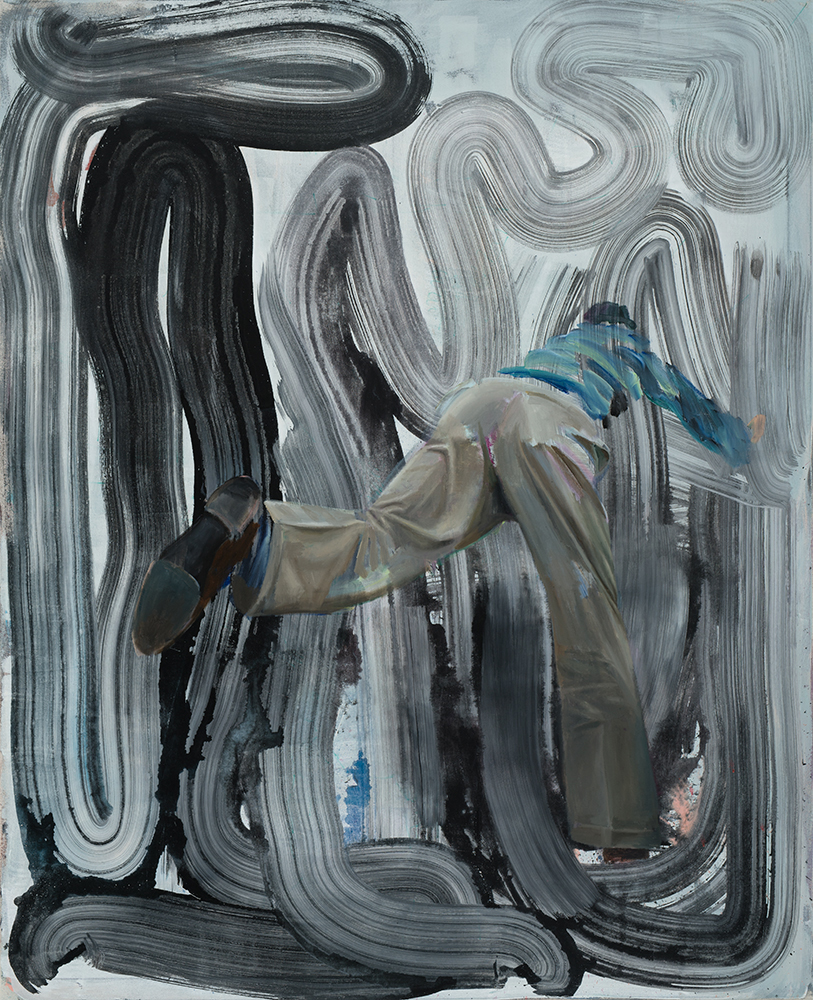 Age Dive, 2016, 160 x 130 cm, oil and acrylic on canvas