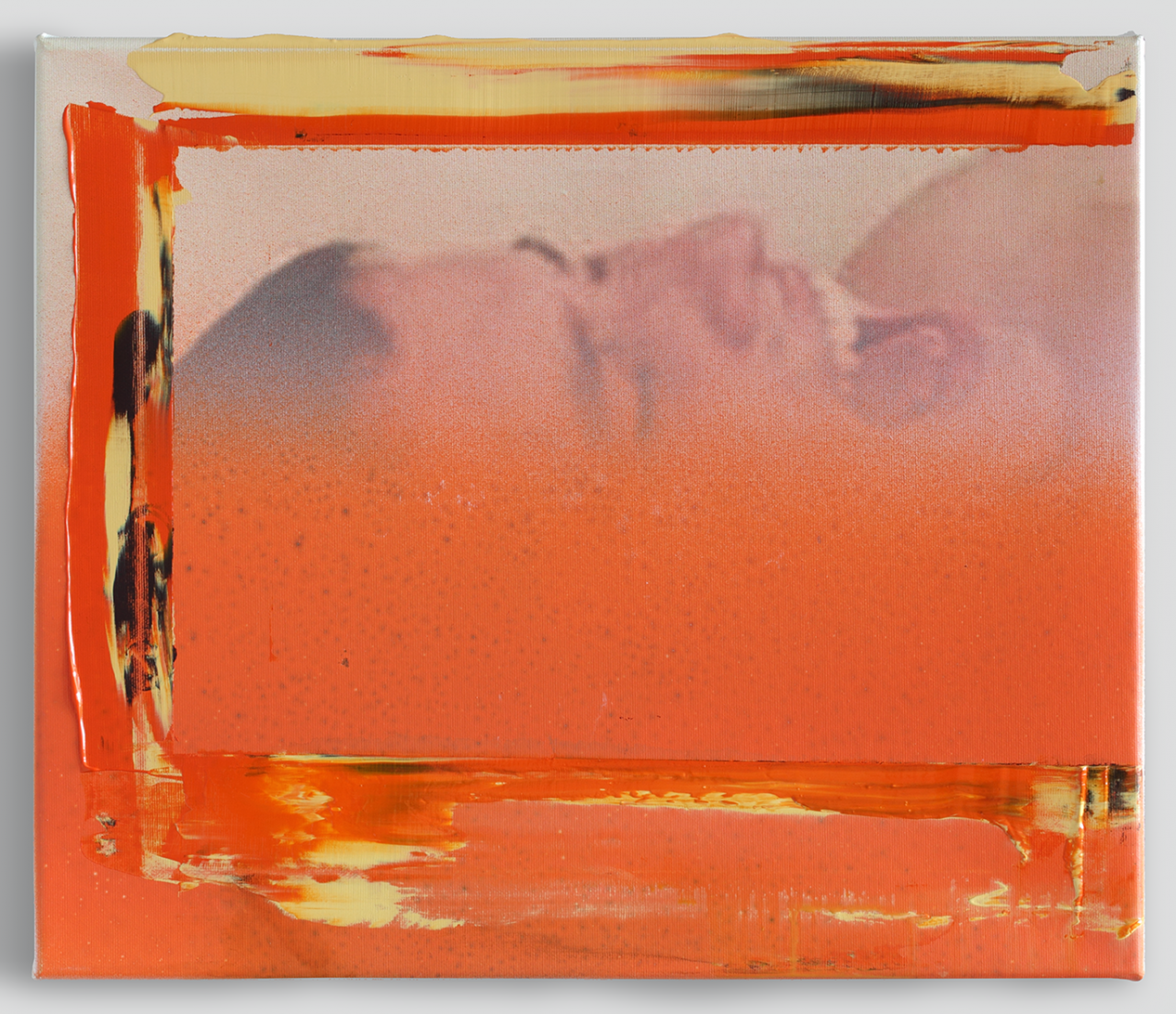 Inbox 2017 - 41 x 35cm, acrylic & inkjet on canvas