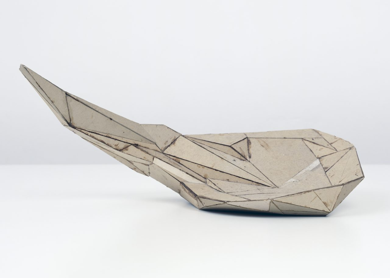 Untitled | 1984 | cardboard | 23 x 54,5 x 29,5 cm | photo: Jörg Hejkal
