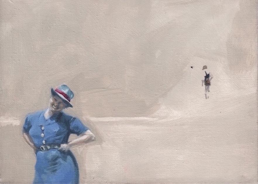 """""""Tante"""" gouache on canvas, 2014"""