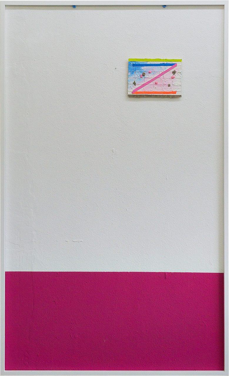 System ab ,2016 Acryl, Vinyl auf Holz auf Wand und Edelstahl 200 x 125 cm