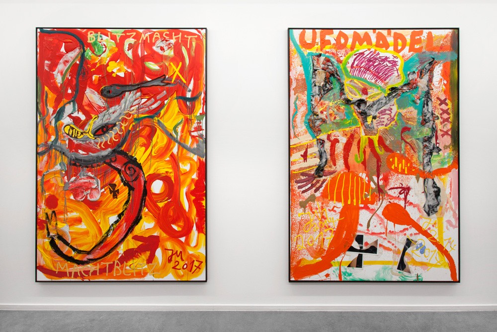 """Jonathan Meese - """"E.T."""" VS. """"DR. IDEOLOGY"""" (JOHNNY FUZZY M. SINCLAIR) at Tim Van Laere Gallery"""