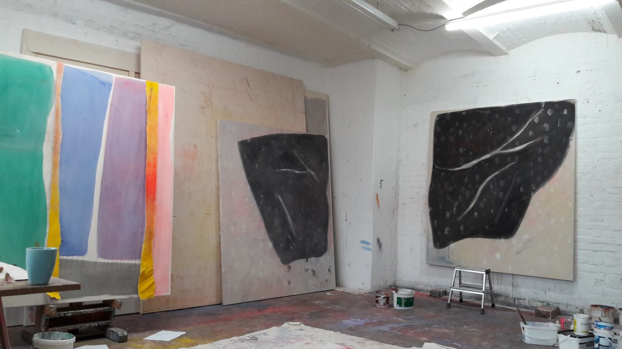 Studio image, The empty handed painter #1 and #2