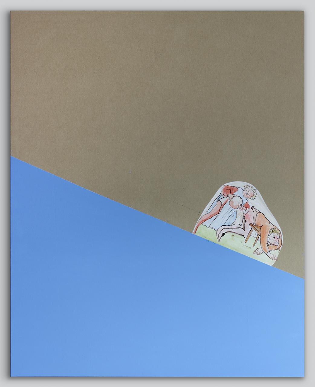 Slippery slope (blue) 2017 - 200 x 160cm, acrylic on canvas
