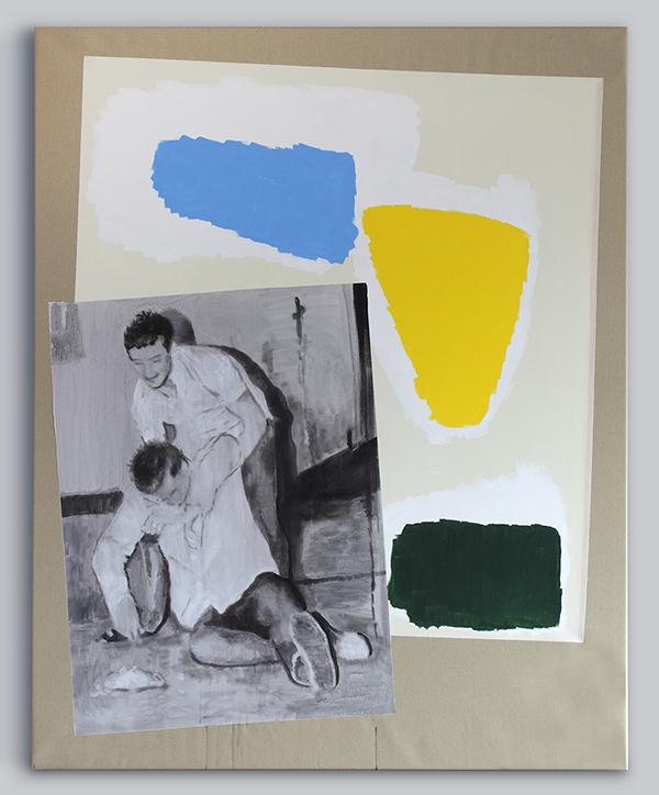Deposition 2017 - 200 x 160cm, acrylic on canvas