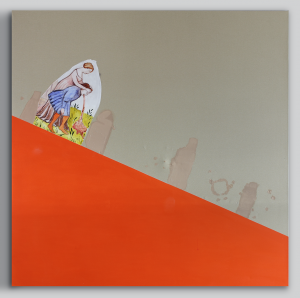 Slippery slope (orange) | David Powell | available artwork