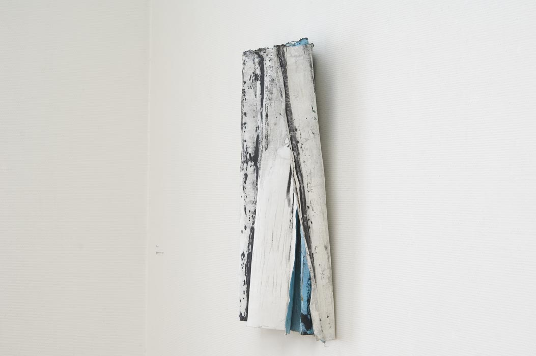 Blue (2011), oil, acrylic and gesso on canvas, folded