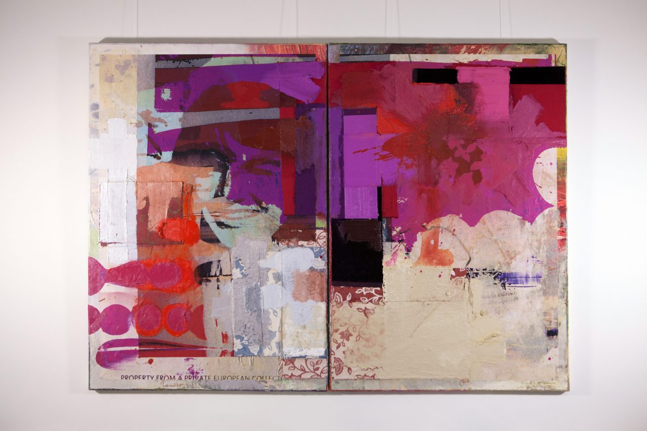 Captaindiamond | 2014 | Acrylic Oil and Digital Prints on Canvas | 160 x 220 cm