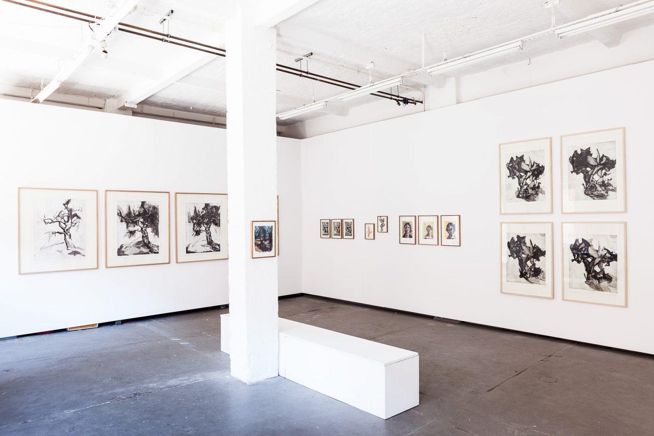 """""""wende sie und wende sie immer wieder"""" Solo exhibition. 2015, Tapetenwerk Gallery, Leipzig Germany. Photo: Jens Klein"""