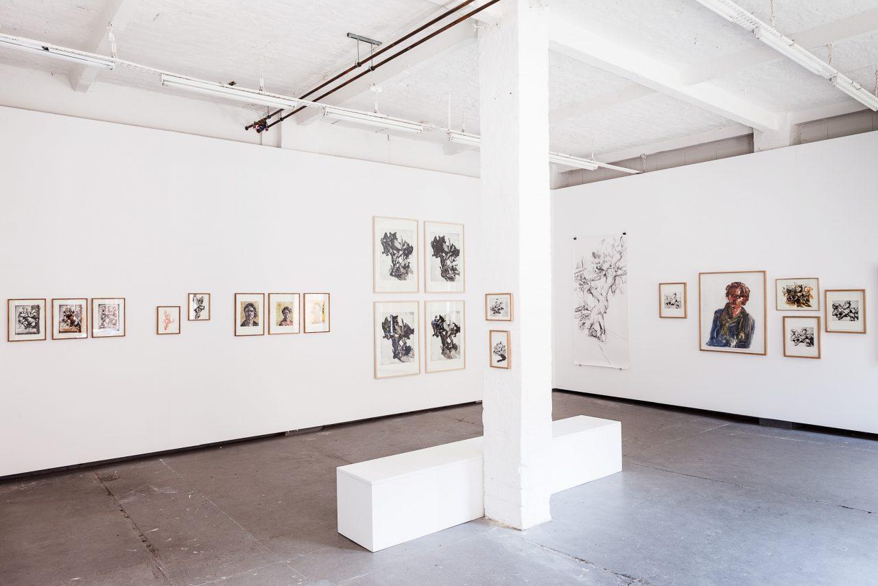 """""""הפוך בה והפוך בהwende sie und wende sie immer wieder"""" Solo exhibition. 2015, Tapetenwerk Gallery, Leipzig Germany. Photo: Jens Klein"""