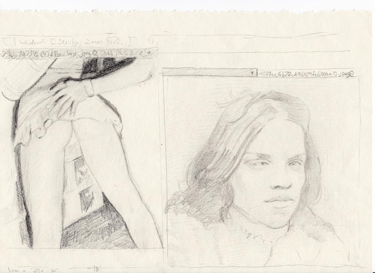 Upskirt 2017 - 29,7 x 21cm, pencil on paper