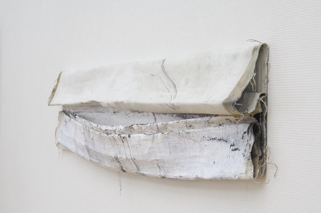 Folded (2011), oil and gesso on canvas, folded