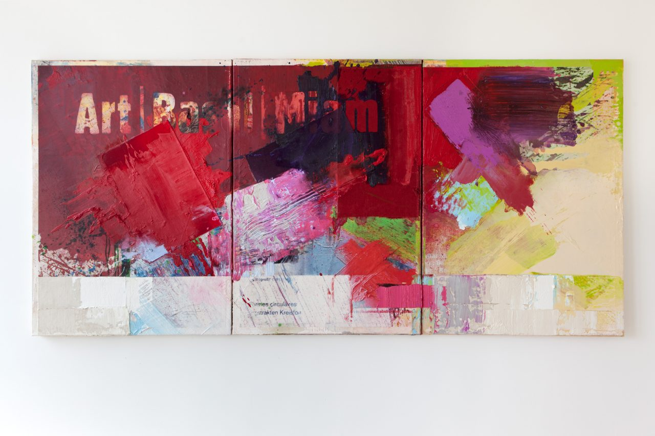 Ikonografiedergegenwart | 2014 | Acrylic Oil and Digital Prints on Canvas | 125 x 265 cm