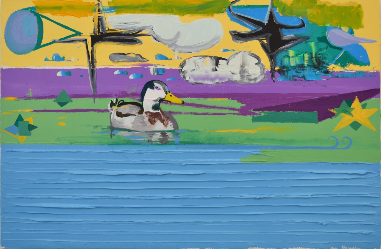 Duck into a pond | Albert Zwaan | available artwork