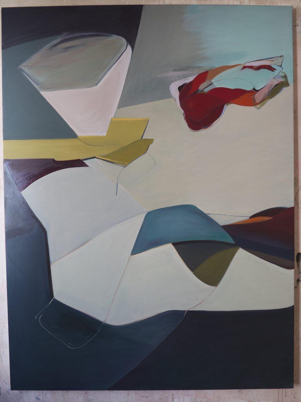 Reflexion , 180 x 140 cm, Oil painting 2017