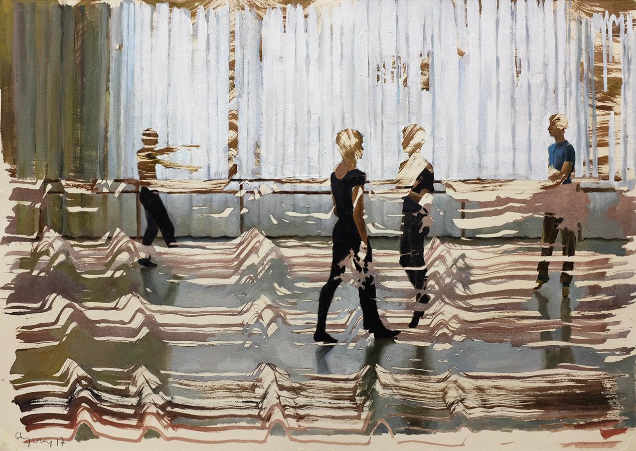 Rehearsal, 2017, 42 x 60 cm, acrylic on carton