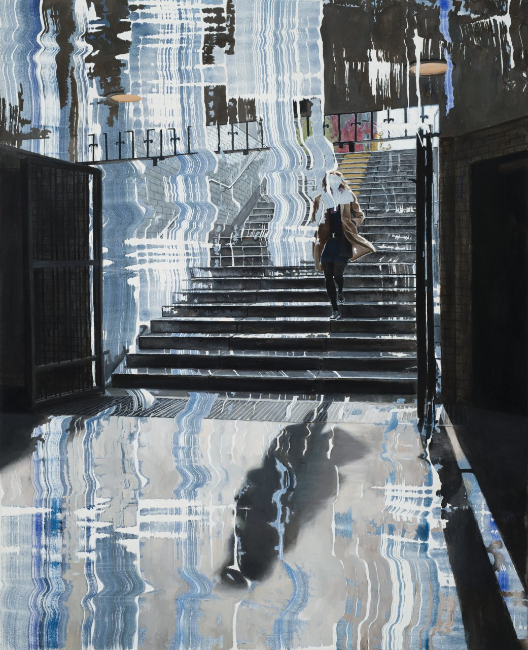 Stillness is a Lie, 2016, acrylic and oil on canvas, 160 x 130 cm