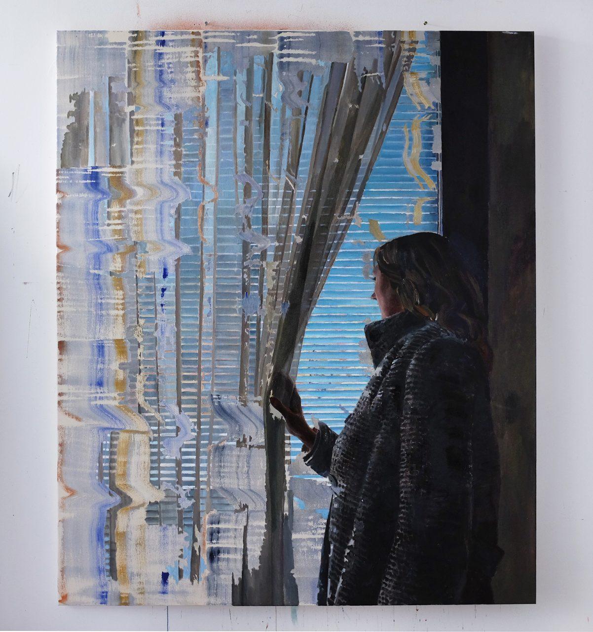 Life Was a Curtain, 2017, 180 x 150 cm