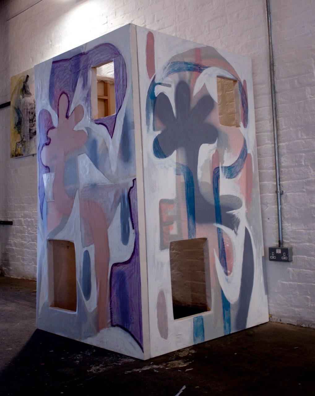 Peekaboo, Mixed Media on Canvas, @ Brixton East Gallery