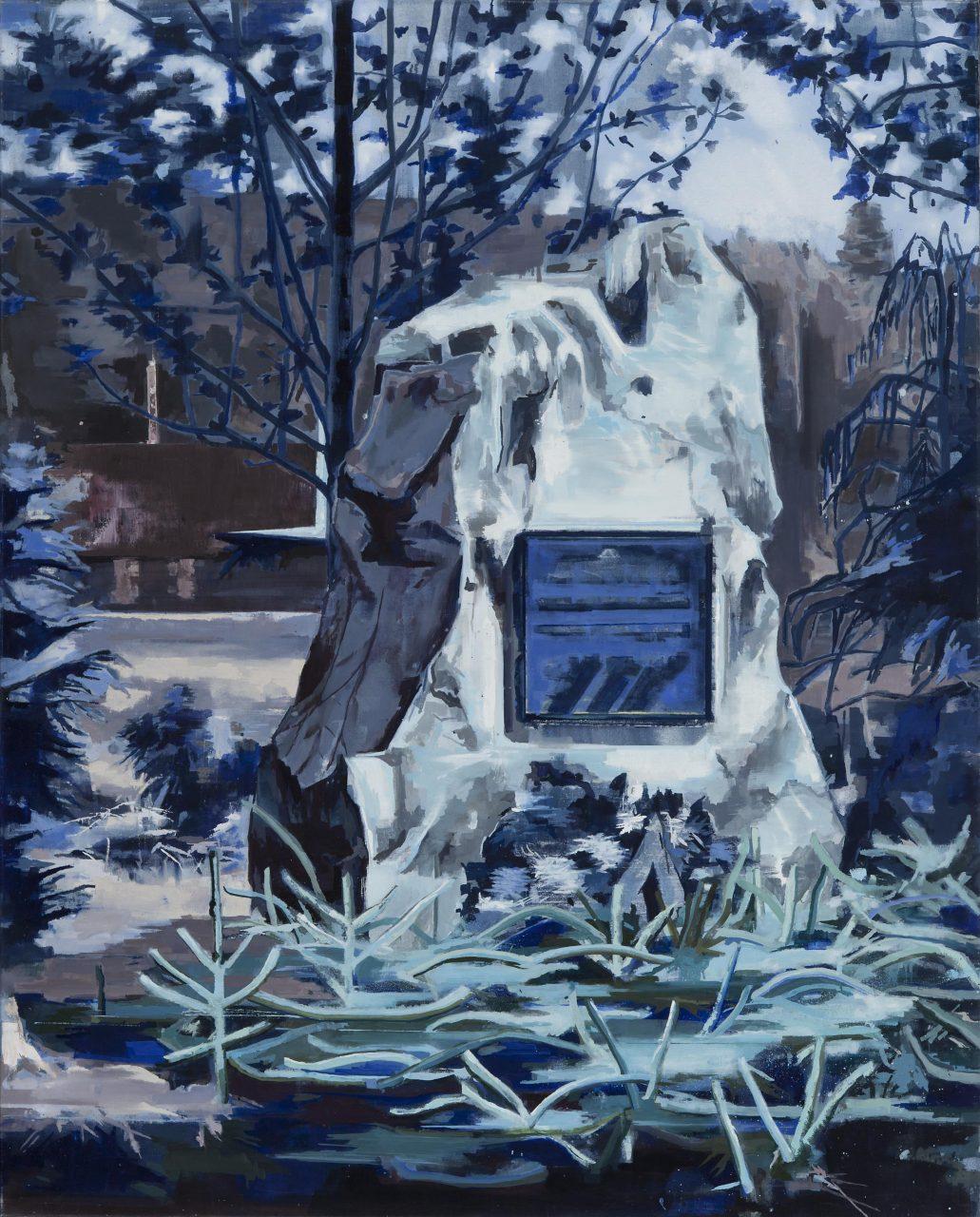 Die Mitte vom jetzt, (Monument für das vergehen von ZeitI) 180 x 145 cm, Öl auf Leinwand, 2015