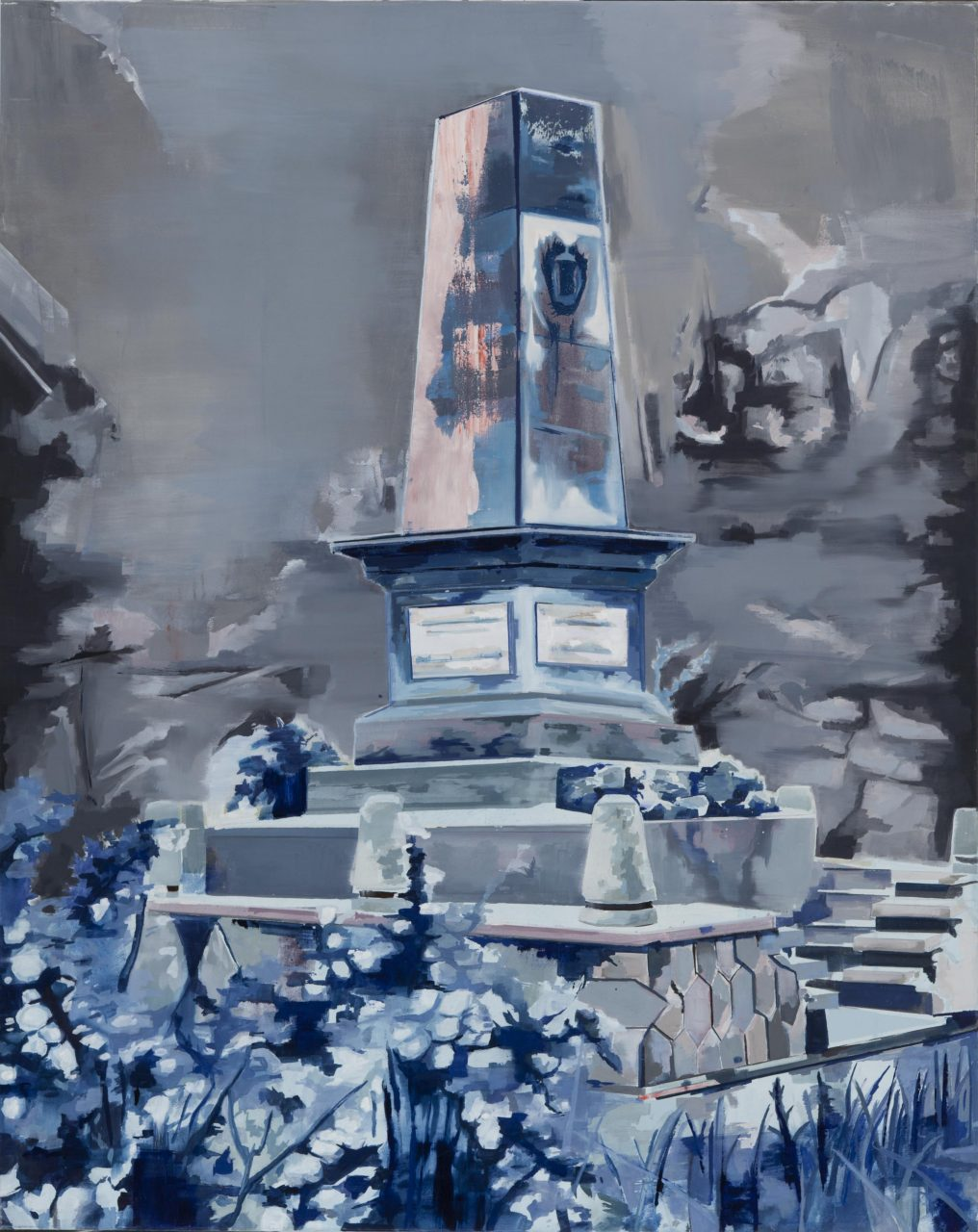 Vergessenes Morgen (Monument für das vergehen von ZeitI) 180 x 145 cm,Öl auf Leinwand, 2015