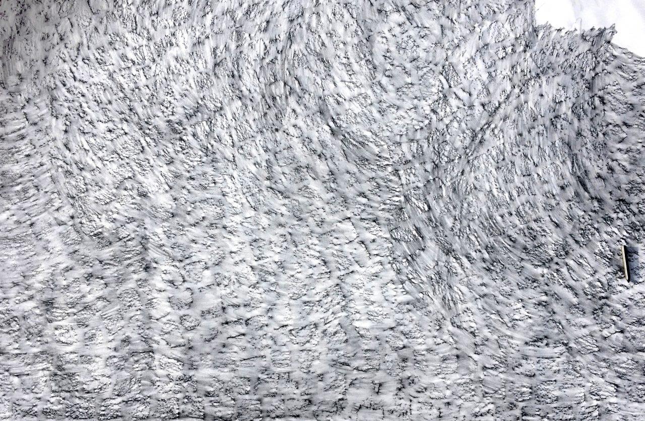 Die leere Fläche, Graphit auf Papier, 150 x 280 cm