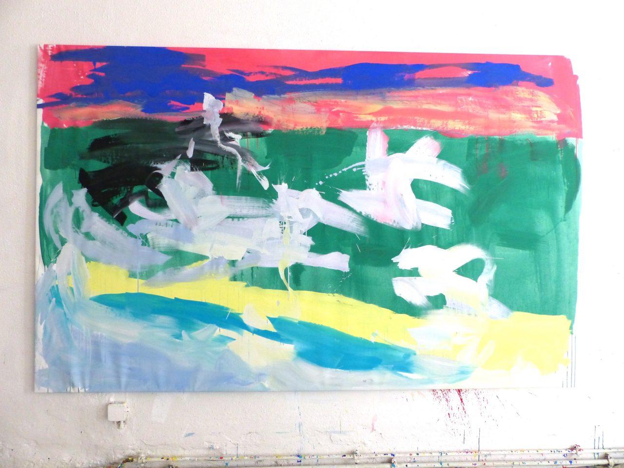 Ohne Titel, 2017, 155 x 250 cm