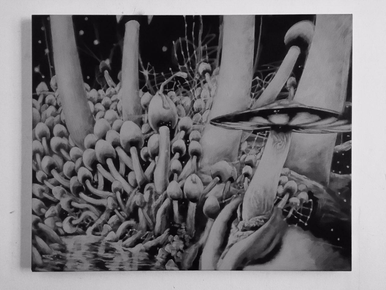 """""""AM See"""", 2017, 80 x 100 cm, Acrylic on canvas"""