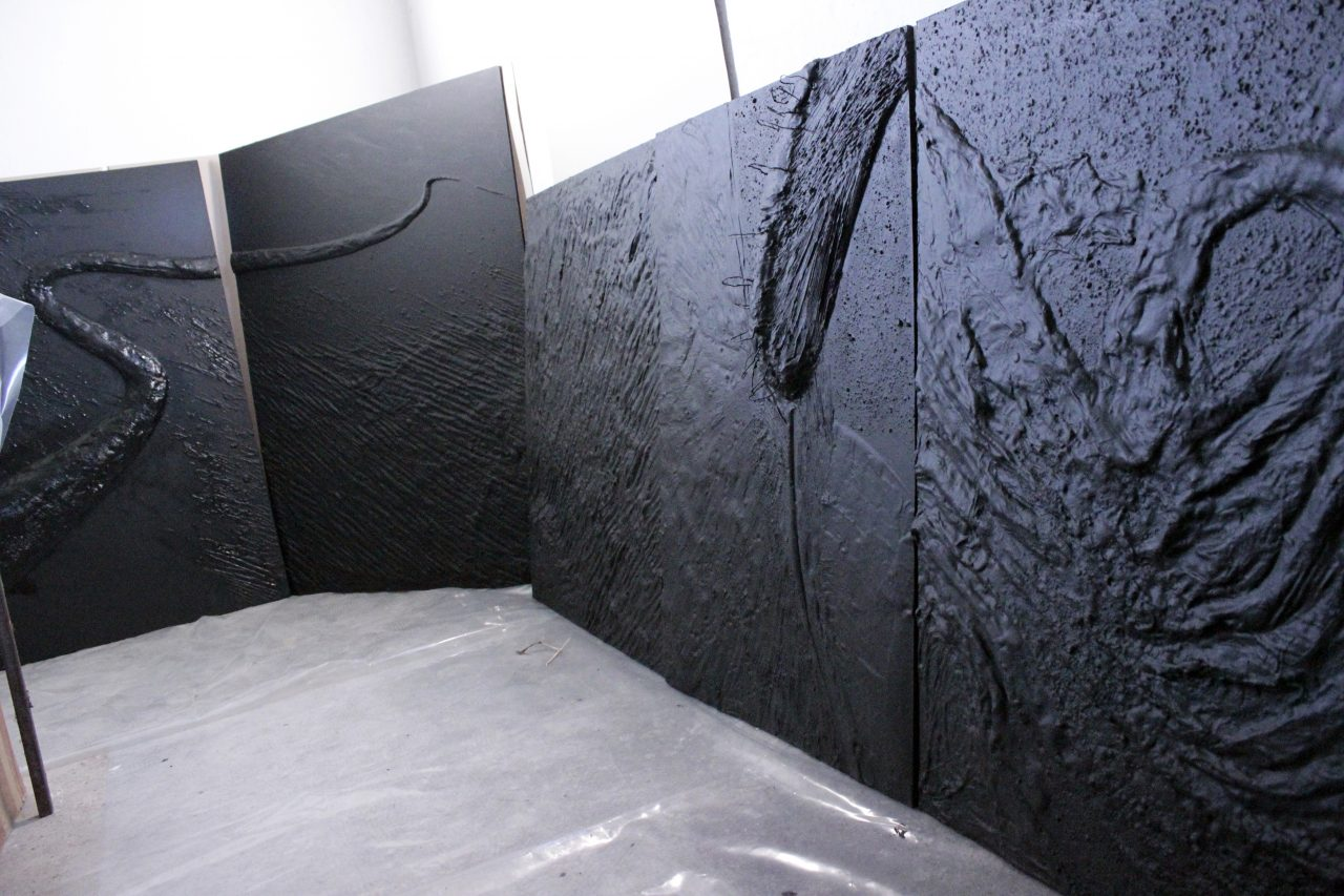 reliefs in preaparation, MOON Studio 2