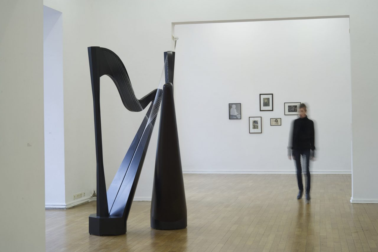 2 Harps, 2015, wood, lacquer, strings, 2,30m x 1,50m