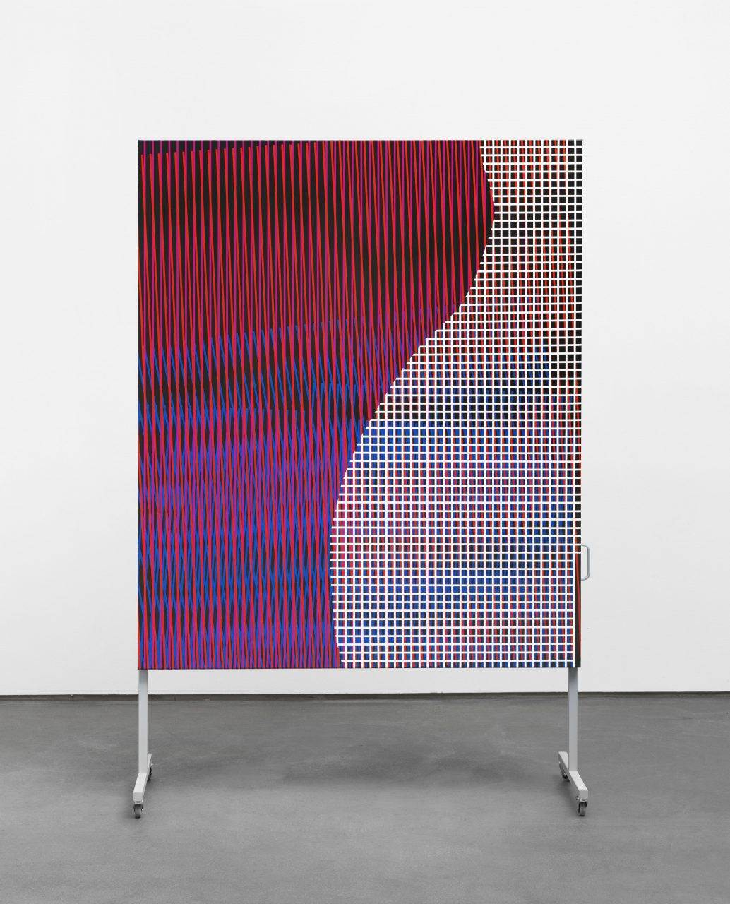 untitled (body color space), 2017 /// acrylic on canvas on metal display /// 245 x 155 x 60 cm