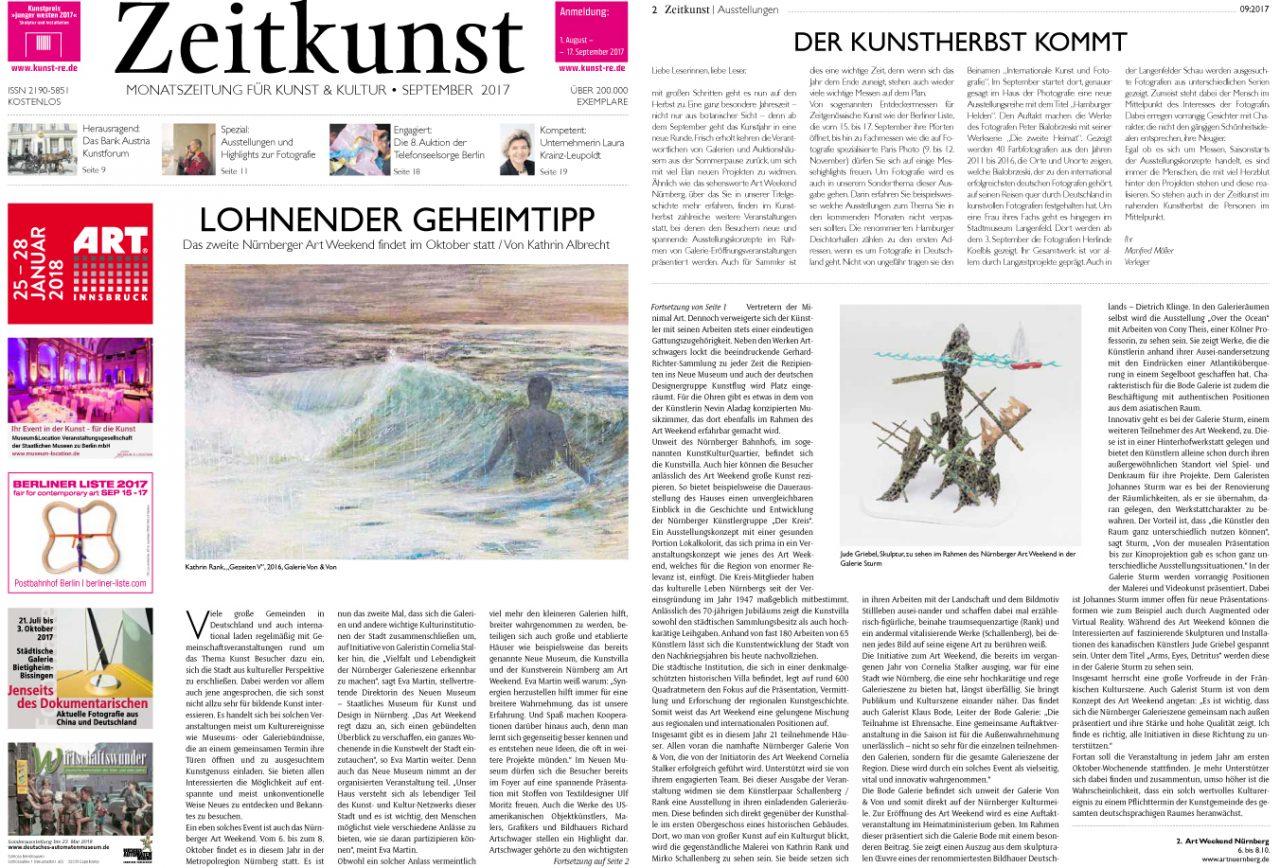 ZEITKUNST Monatszeitung für Kunst & Kultur