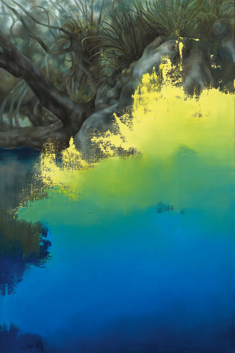 hidden landscape, 2017, 91 x 61 cm, oil on canvas